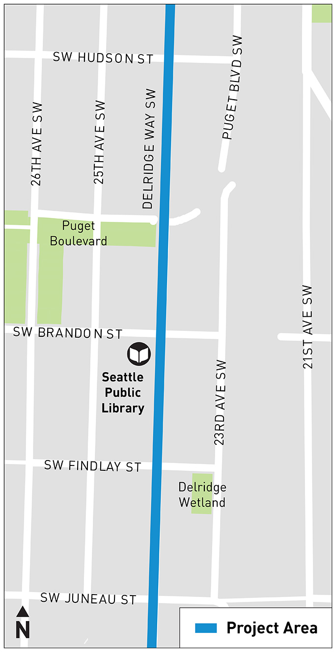 A map indicates that Area C is located between SW Hudson St and SW Juneau St.