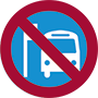 icon of bus stop closure
