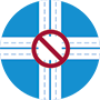icon of closed intersection